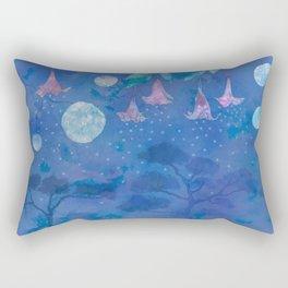 Night Blooms Rectangular Pillow
