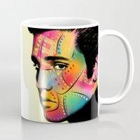 elvis presley Mugs featuring Elvis Presley by mark ashkenazi