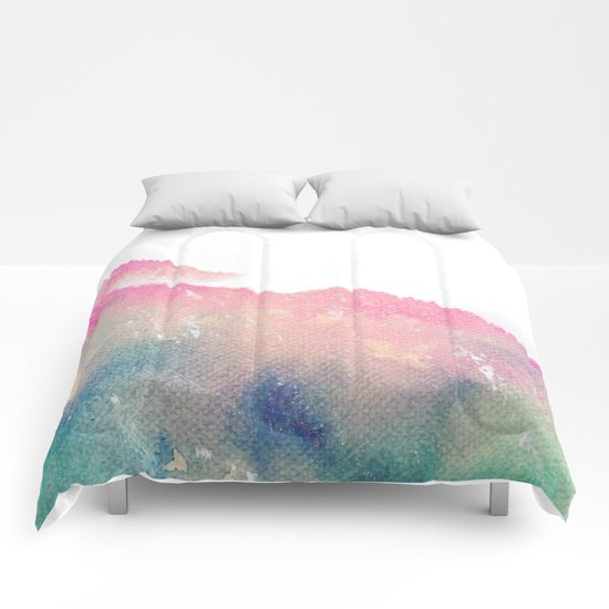 The Mountain of Happy #society6 #buyart #decor Comforters