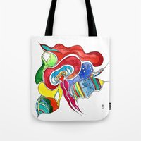 medusa Tote Bags featuring Medusa by Gosia&Helena