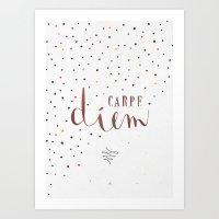 carpe diem Art Prints featuring Carpe Diem by Earthlightened
