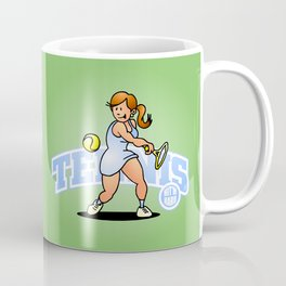 Tennis, Hit'm hard Coffee Mug