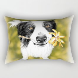 Cute Border Collie Rectangular Pillow