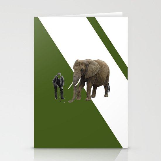 the elefant's 19th hole Stationery Cards