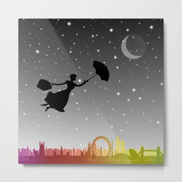magical mary poppins Over London Metal Print