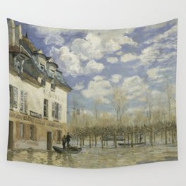 Alfred Sisley - Flood at Port-Marly, 1876 Wall Tapestry