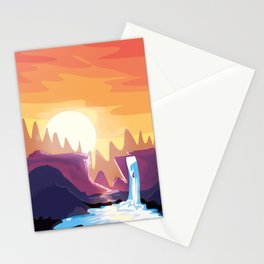 The waterfall Stationery Cards