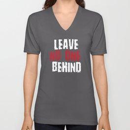 Leave no one behind | Tolerance Gift Unisex V-Neck