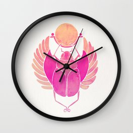 Egyptian Scarab – Pink Ombré Wall Clock