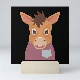 Horse Donkey Mini Art Print