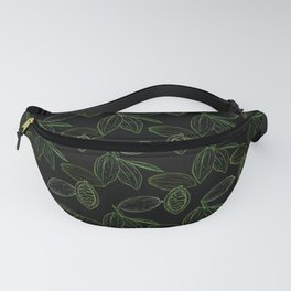 Cacao Pods (Black Glow) - Camo Fanny Pack