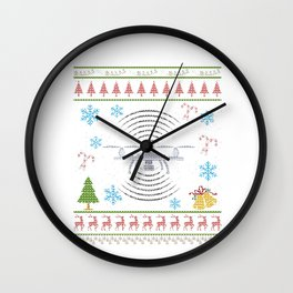Quad Copter RC Remote Control Copter Christmas Ugly Wall Clock