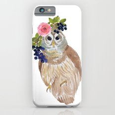 Owl with flower crown Slim Case iPhone 6s