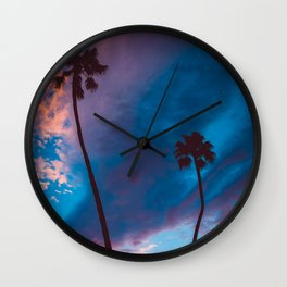Sunset in California Wall Clock