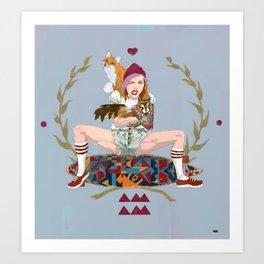 Anna Amam Art Print