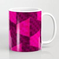 hexagon Mugs featuring HEXAGON by xalomako