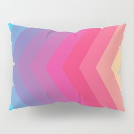 Gradient chevron Pillow Sham
