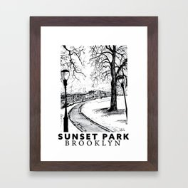 SUNSET PARK BROOKLYN Framed Art Print