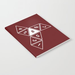 Red Unrolled D8 Notebook