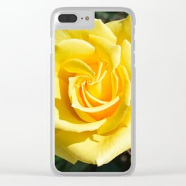 Yellow Rose for Mommy Clear iPhone Case