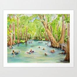 Blue Hole Wimberley Texas Art Print