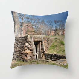 Cherokee Nation - Hendricks Spring, the Site Selected for Seminary Hall, after the first burned, #2 Throw Pillow