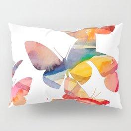 Orange Butterflies Pillow Sham