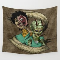 boys Wall Tapestries featuring Corpse Boys by Hibiscus-Hemorrhage