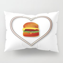 Love Burgers Pillow Sham