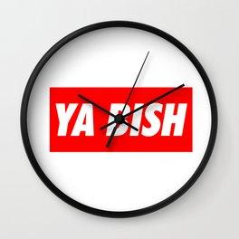 Ya Bish Typography Wall Clock