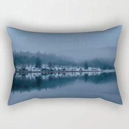 Reflections on a Lake - Landscape Photography Rectangular Pillow