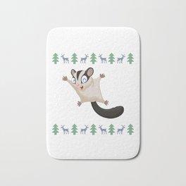 Sugar Glider Christmas Xmas Flying Squirrel Omnivorous Flyers Arboreal Animal Wildlife Gift Bath Mat