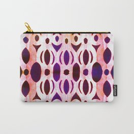 Abstract Floral Lace Carry-All Pouch