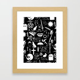 Buffy Symbology, White Framed Art Print