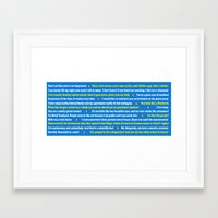 anchorman Framed Art Prints featuring Anchorman Quotes by Dr. Spaceman40