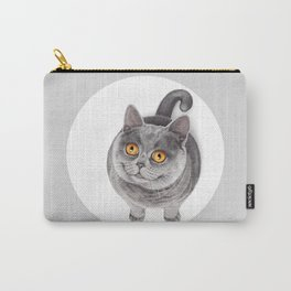 Smiling Rounded Cat Carry-All Pouch