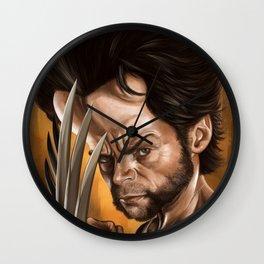 Hugh Jackman caricature Wall Clock