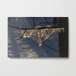 Orginal Ice at Hell's Hallow, Pennsylvania Metal Print