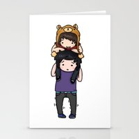 danisnotonfire Stationery Cards featuring Dan and Phil by Sanni Salmela
