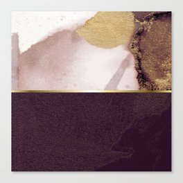 Half And Half Rose Gold 03 Canvas Print