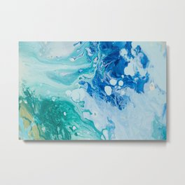 Liquid Blues and Greens Metal Print