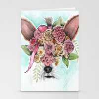 yorkie Stationery Cards featuring Yorkie by Carmen McCormick