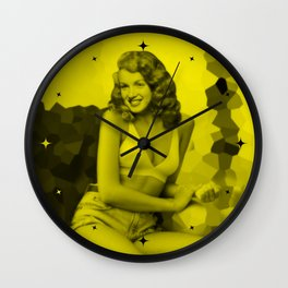 Celebrity - Sexy Pose (Photographic Art - Face Replace) Wall Clock