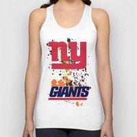 giants Tank Tops featuring ny giants by Dan Solo Galleries