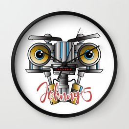 Johnny 5 Short Circuit Wall Clock