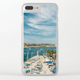 Luxury Yachts And Boats In Cascais Port At Atlantic Ocean, Wall Art Print, Luxury Resort Art, Poster Clear iPhone Case