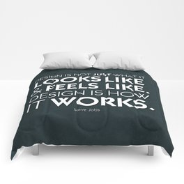 Typographic Quote Design  [Steve Jobs] Comforters