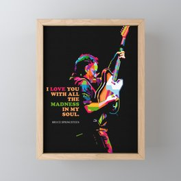 BruceSpringsteen Framed Mini Art Print