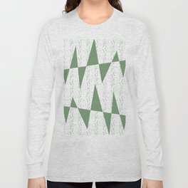 Abstract geometric pattern on white background Long Sleeve T-shirt