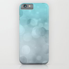 Aqua Turquoise Grey Soft Gradient Bokeh Lights iPhone Case